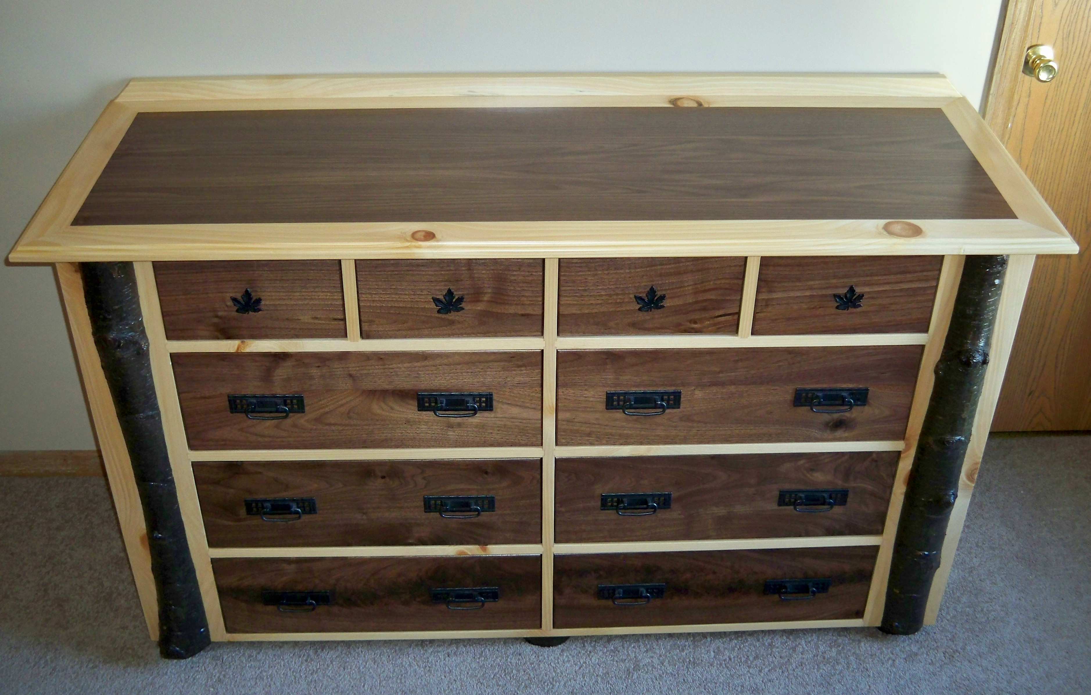 Rustic Yet Elegant Log Dresser